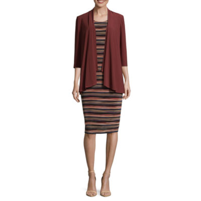 R & M Richards Sleeveless Jacket Dress-Petites