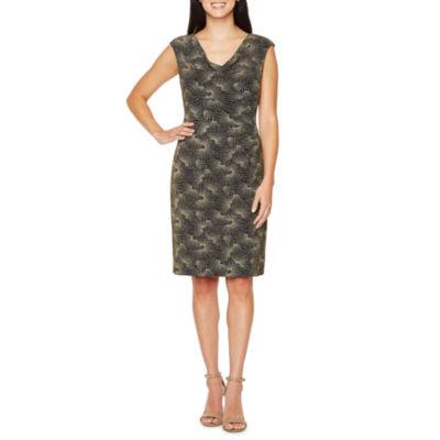 Scarlett Sleeveless Geometric Sheath Dress