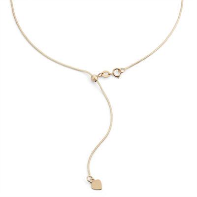 10K Gold 22 Inch Semisolid Snake Chain Necklace