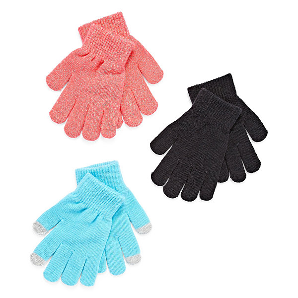 City Streets Girls Cold Weather Gloves-Big Kid 7-16