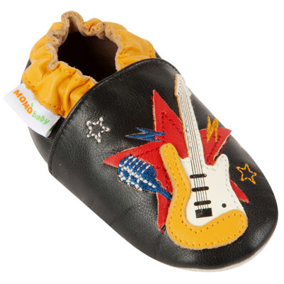 Momo Baby Soft Sole Leather Shoes - Rockstar Guitar