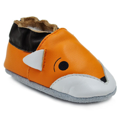 Soft Sole Leather Crib Bootie Baby Shoes - Foxy