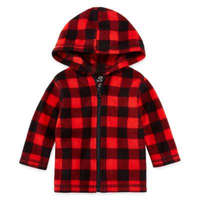 Okie Dokie Full Zip Hooded Fleece Jacket-Baby Boys NB-24M