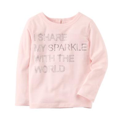 Carter's Long Sleeve Round Neck T-Shirt-Preschool Girls