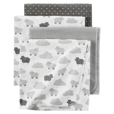 Carter's Girl Grey Sheep 4pk Blanket