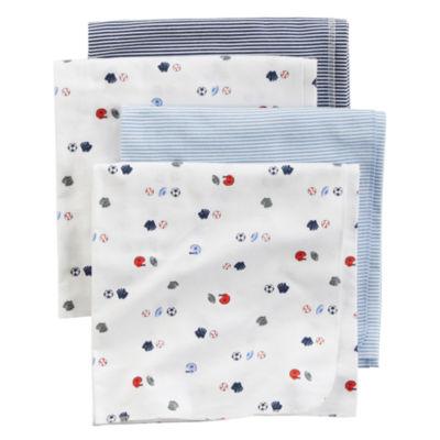 Carter's Boy Blue Sport 4pk Blanket
