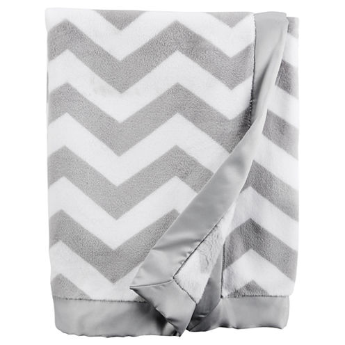 Carter's Gray Chevron Blanket