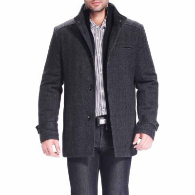 BGSD Men's Herringbone Wool Blend Car Coat