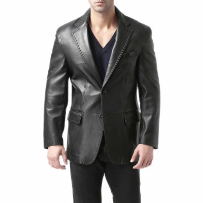 BGSD Men's Grant Two Button Lambskin Leather Blazer