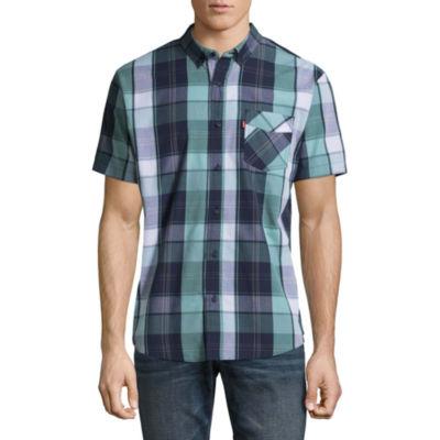 Levi's® Short Sleeve Plaid Button-Front Shirt