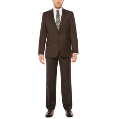 jcpenney.com | Stafford Travel Stretch Gray Brown Stripe Suit Separates-Classic Fit
