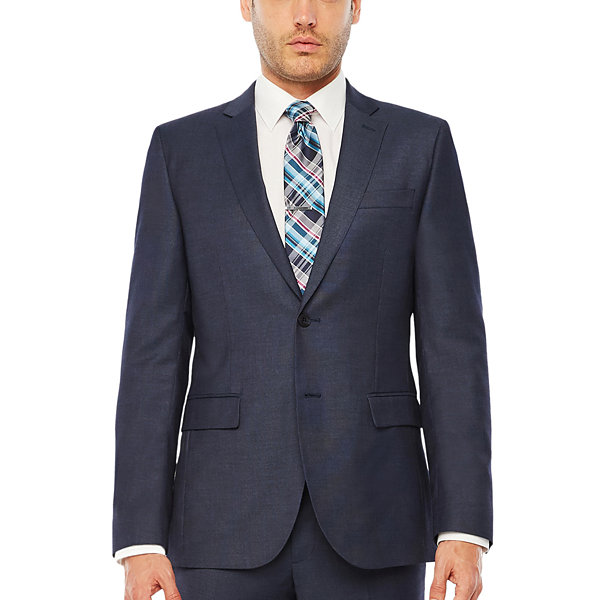 JF J.Ferrar Geometric Slim Fit Stretch Suit Jacket-Slim