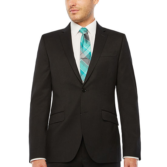 JF J.Ferrar Striped Slim Fit Stretch Suit Jacket-Slim