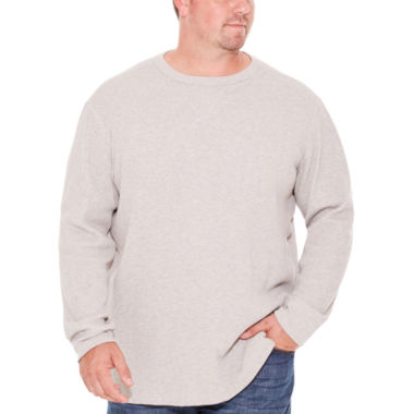 The Foundry Big & Tall Supply Co. Long Sleeve Waffle Crew Neck T-Shirt-Big and Tall