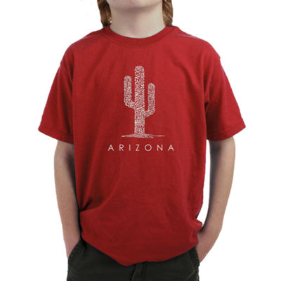 Los Angeles Pop Art Arizona Cities Graphic T-Shirt Boys