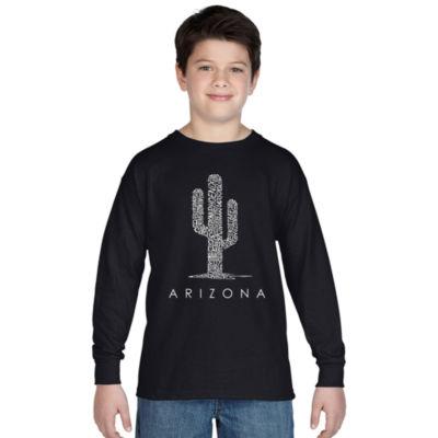 Los Angeles Pop Art Arizona Cities Long Sleeve Boys Word Art T-Shirt