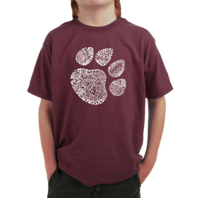 Los Angeles Pop Art Cat Paw Graphic T-Shirt Boys