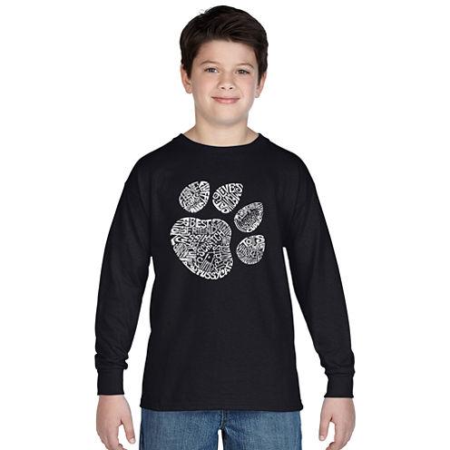 Los Angeles Pop Art Cat Paw Graphic T-Shirt Boys