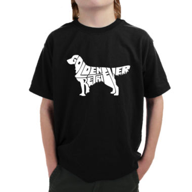 Los Angeles Pop Art Golden Retreiver Graphic BoysT-Shirt