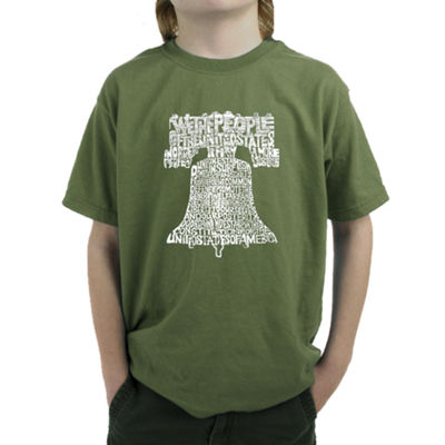 Los Angeles Pop Art Liberty Bell Graphic T-Shirt Boys