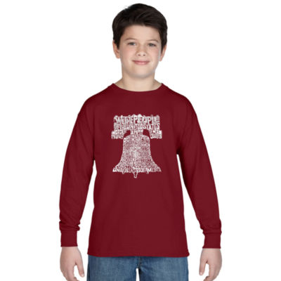 Los Angeles Pop Art Liberty Bell Graphic T-Shirt Boys