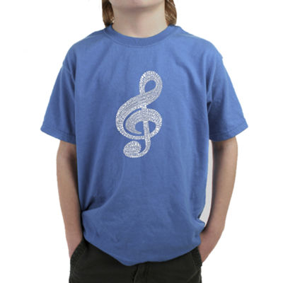 Los Angeles Pop Art Music Note Graphic T-Shirt Boys