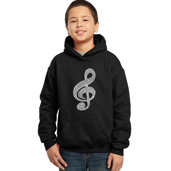 Los Angeles Pop Art Music Note Boys Word Art Hoodie