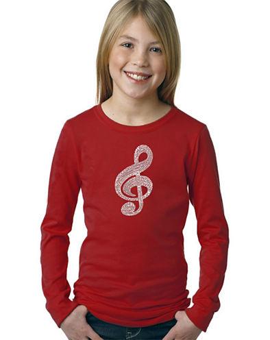Los Angeles Pop Art Music Note Graphic T-Shirt Girls