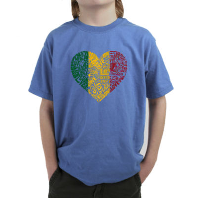 Los Angeles Pop Art One Love Heart Graphic Boys T-Shirt