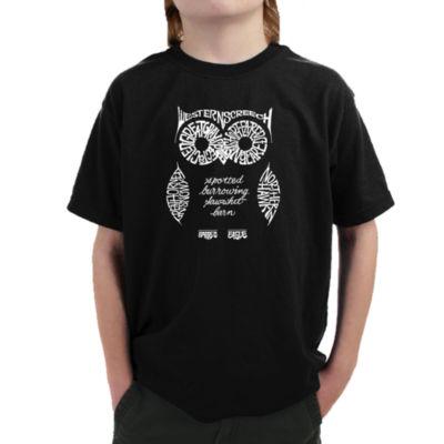 Los Angeles Pop Art Owl Graphic T-Shirt Boys