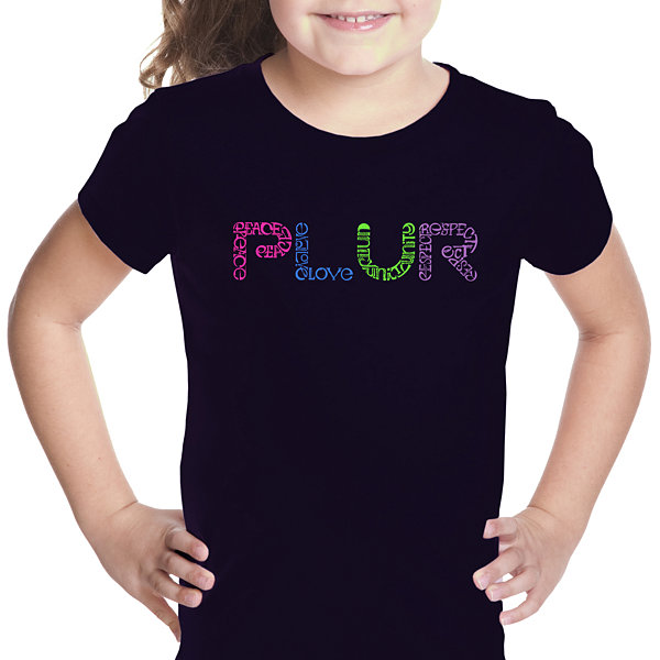 Los Angeles Pop Art Plur Girls Graphic T-Shirt
