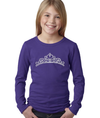 Los Angeles Pop Art Princess Tiara Graphic T-Shirt Girls
