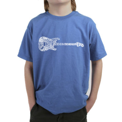 Los Angeles Pop Art Rock Guitar Graphic Boys T-Shirt