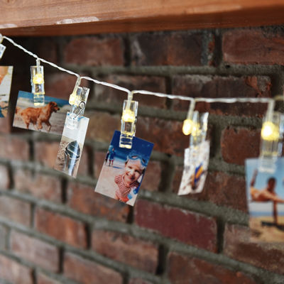 "Polaroid 6.5' LED String Light with 16 Warm White LED Photo Clips for 2x3"" Photos"
