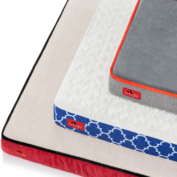 "Brindle Orthopedic 4"" Large Memory Foam Pet Bed"""