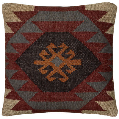 "Rizzy Home Southwestern Square Throw Pillow - 18""x 18"""