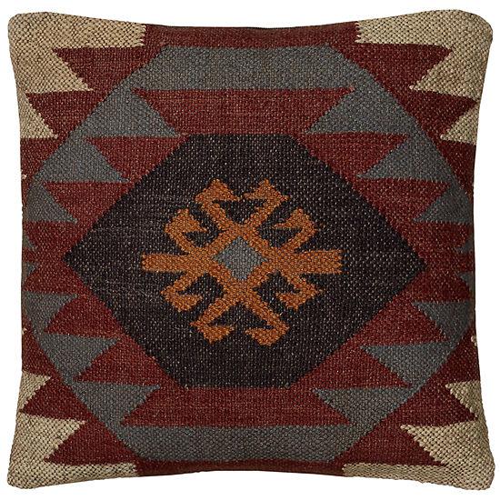 "Rizzy Home Southwestern Square Throw Pillow - 18""x 18"""