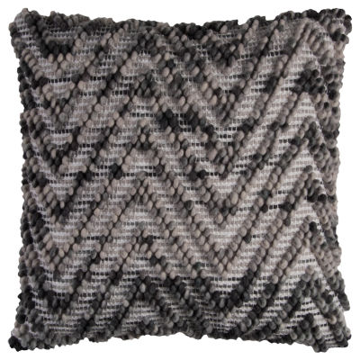 "Rizzy Home Textured Chevron Square Throw Pillow -20"" x 20"""