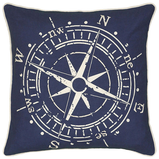 "Rizzy Home Compass Square Throw Pillow - 18"" x 18"""