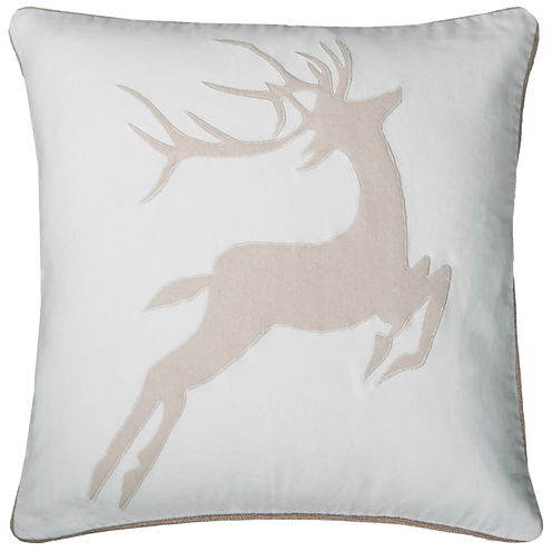 Rizzy Home Dear Holiday Square Throw Pillow