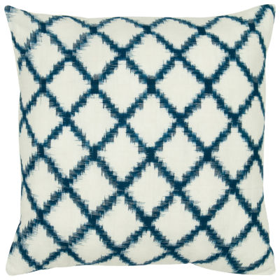 """Rizzy Home Fractured Line Diamonds Square Throw Pillow - 18"""" x 18"""""""