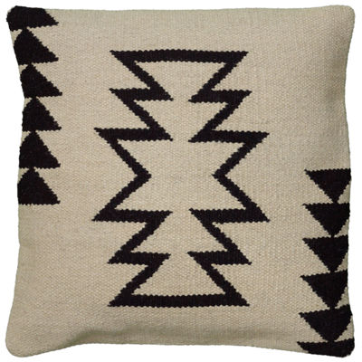 "Rizzy Home Large Arrow Southwestern Motif Square Throw Pillow - 18"" x 18"""