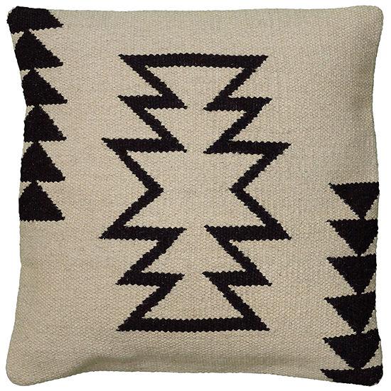 "Rizzy Home Large Arrow Southwestern Motif Square Throw Pillow - 18"" x 18"""