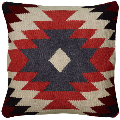 """Rizzy Home Large Southwestern Motif Square Throw Pillow - 18"""" x 18"""""""