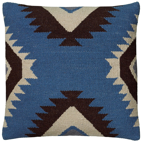 "Rizzy Home Large X Shaped Southwestern Motif Square Throw Pillow - 18"" x 18"""