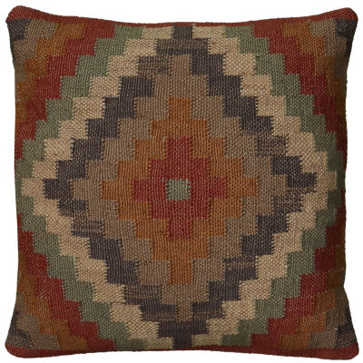 "Rizzy Home Southwestern Medallion Square Throw Pillow - 18"" x 18"""
