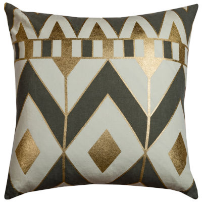 "Rizzy Home Rachel Kate Gatsby Geometric Square Throw Pillow - 20"" x 20"""