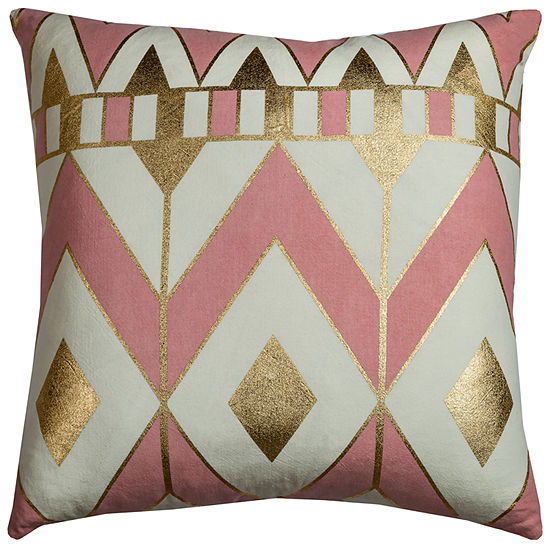"Rizzy Home Rachel Kate Gatsby Geometric Square Throw Pillow - 20"" x 20"""