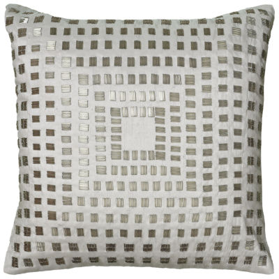 """Rizzy Home Sequined Shimmer Square Throw Pillow -18"""" x 18"""""""
