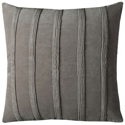 "Rizzy Home Pin Tuck Stripes Velour Square Throw Pillow - 22"" x 22"""